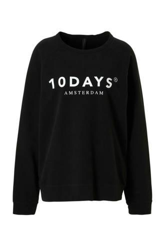 sweater met logo opdruk