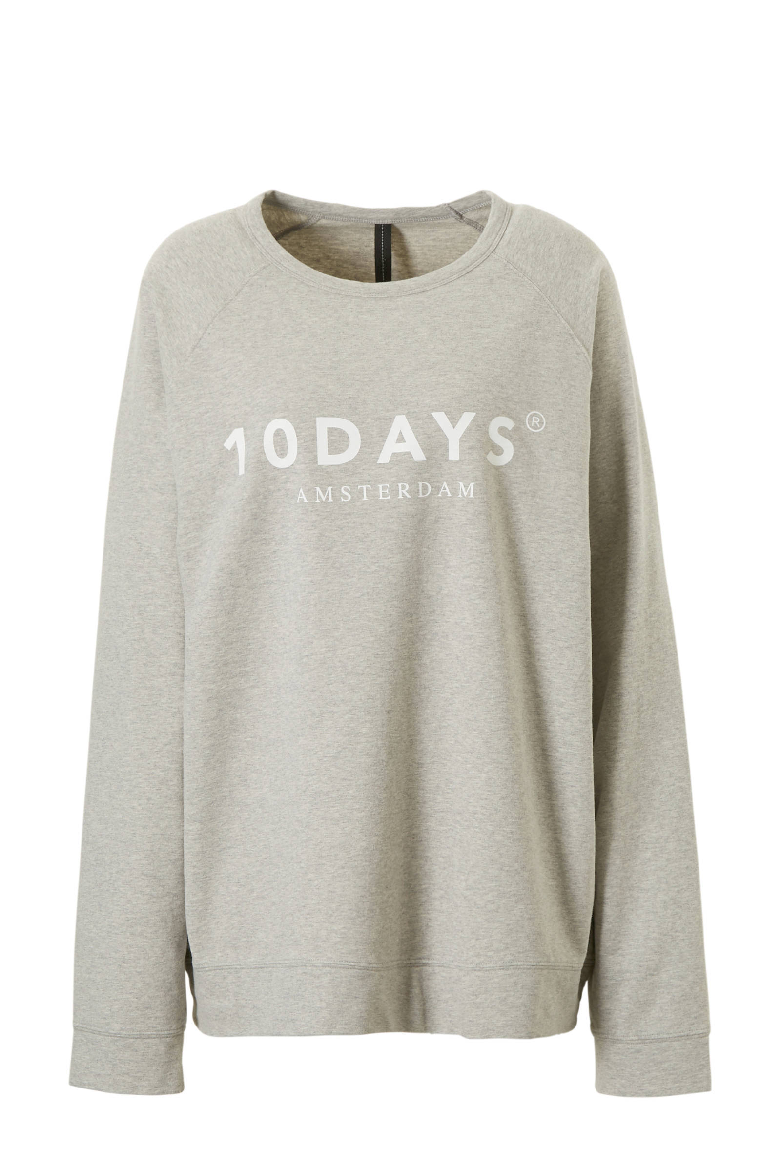 10DAYS trui met printopdruk witzwart | wehkamp