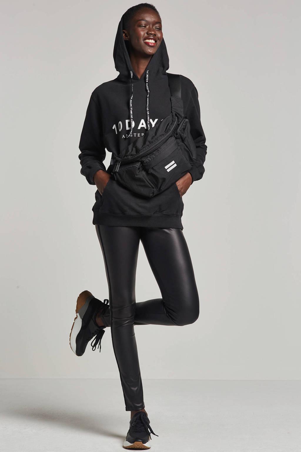 10DAYS hoodie met printopdruk, Zwart/wit