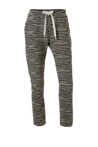 joggingbroek met zebraprint