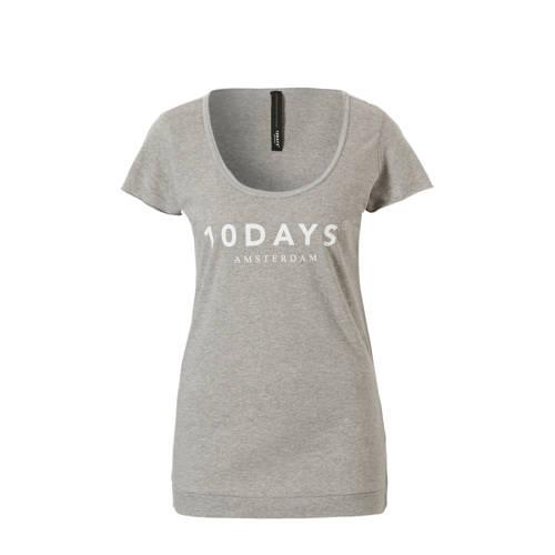 10DAYS T-shirt met logo opdruk