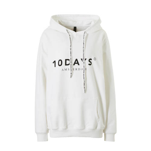 10DAYS trui met printopdruk wit/zwart