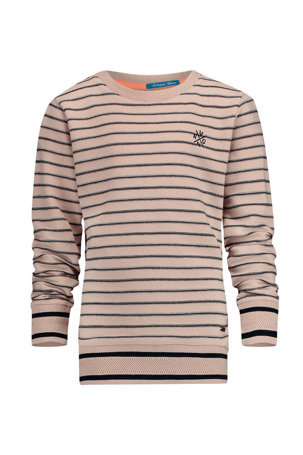 Vingino gestreepte sweater Nadjero ecru, Ecur/zwart