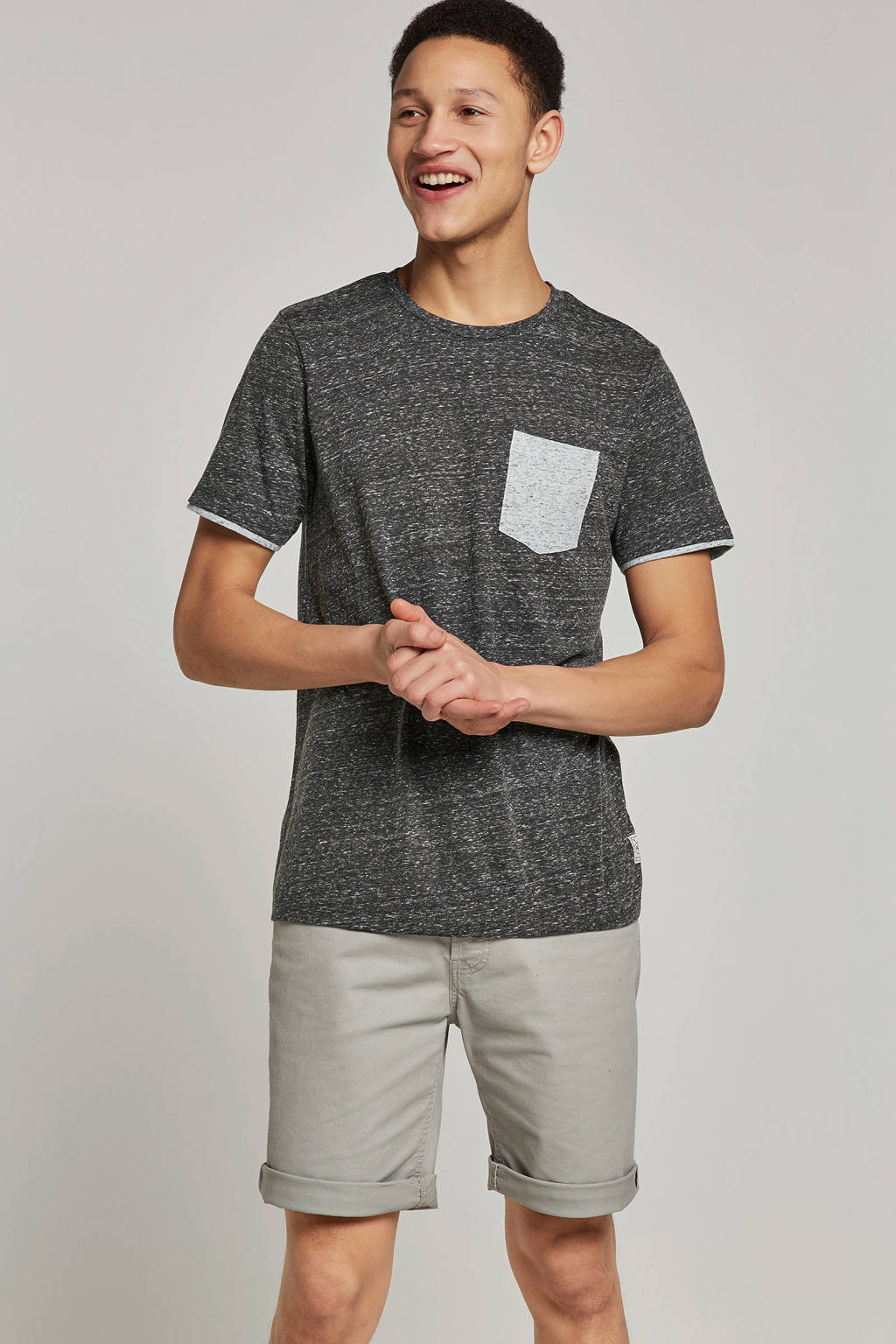 PRODUKT T-shirt, Grijs melange