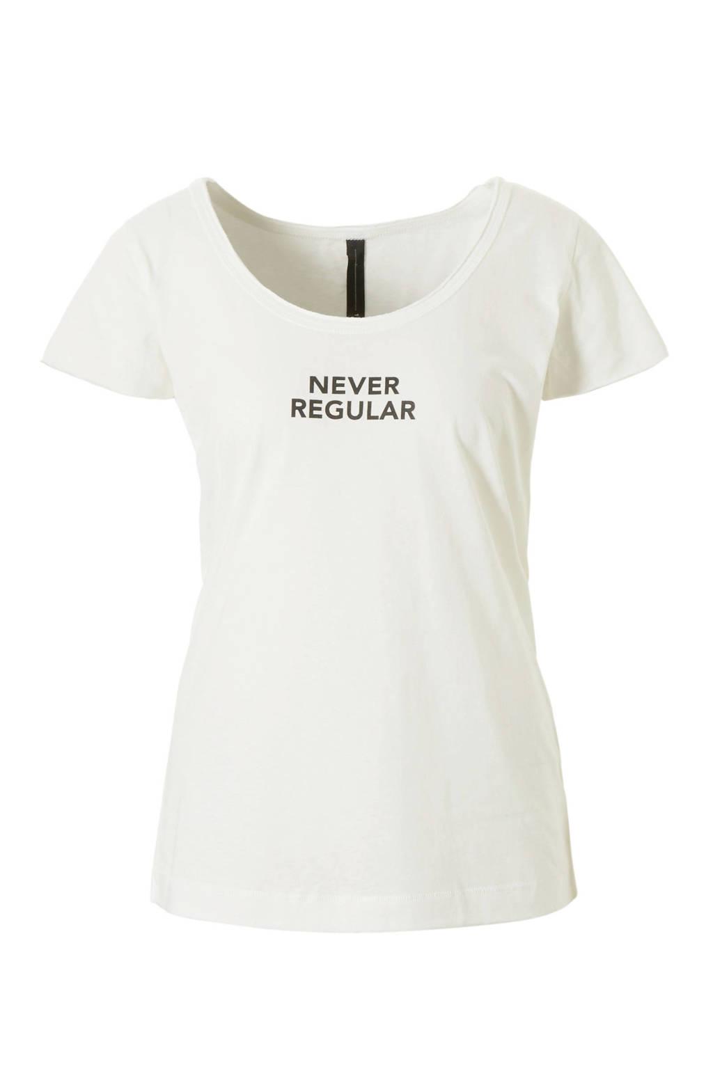 10DAYS T-shirt met printopdruk, Wit