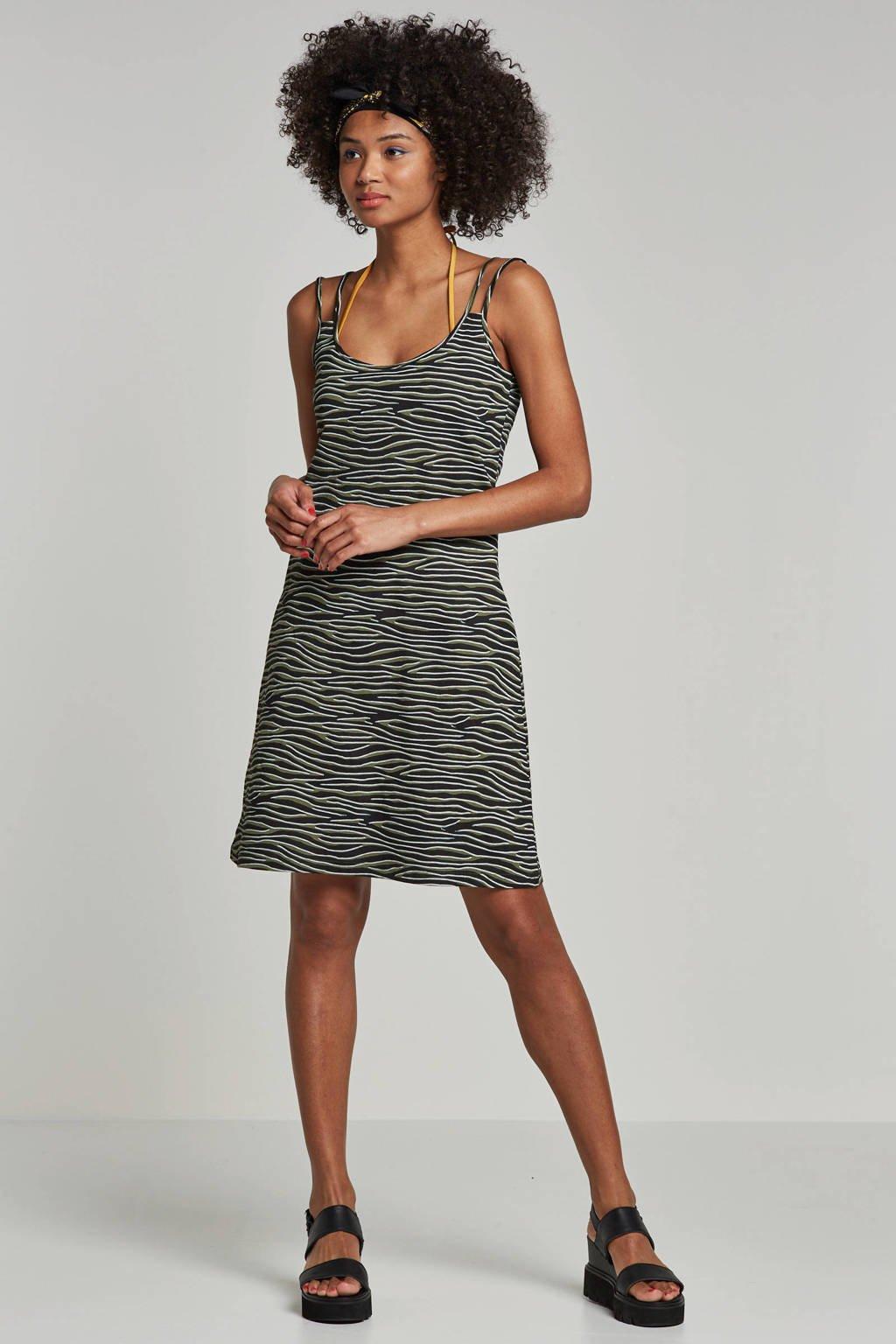 whkmp's beachwave jurk (set van 2), Zwart/groen