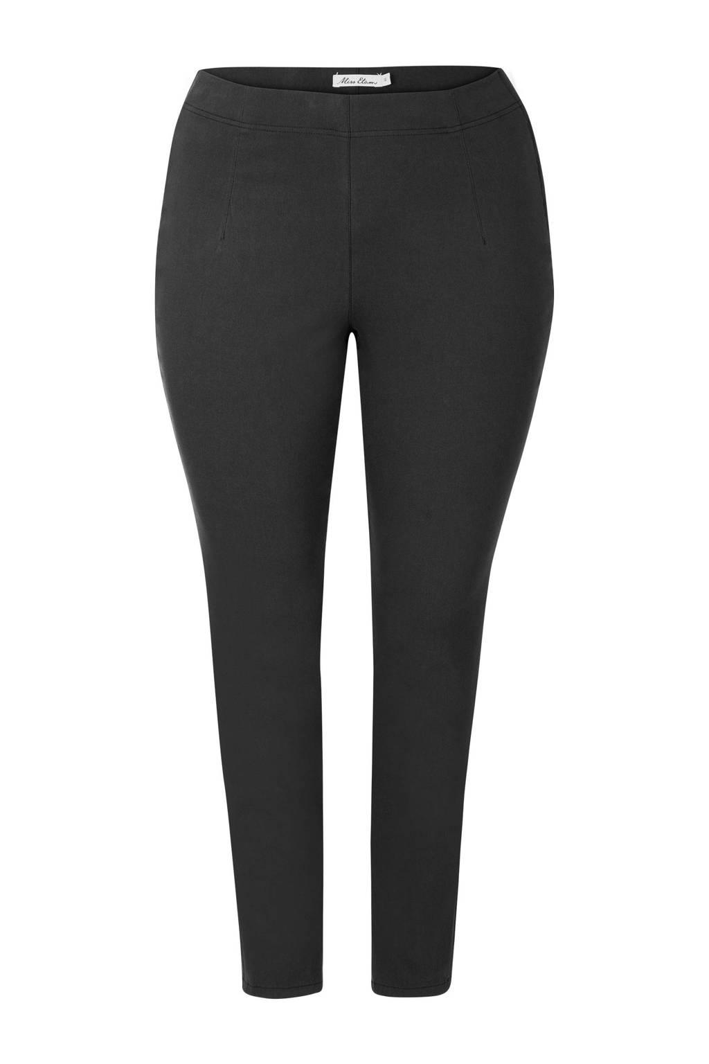 Miss Etam Plus broek zwart, Zwart
