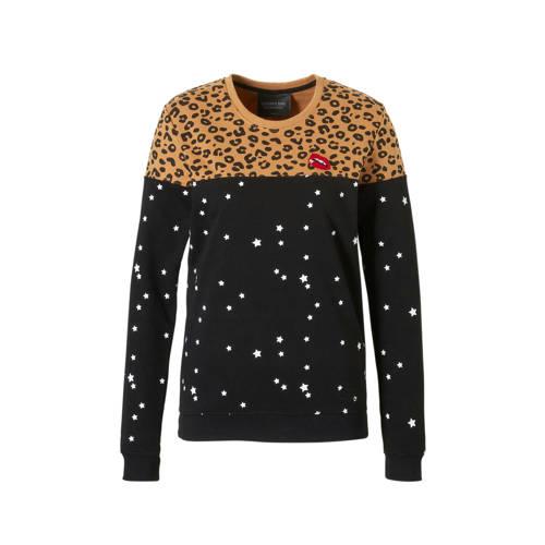 Colourful Rebel sweater met panterprint kopen