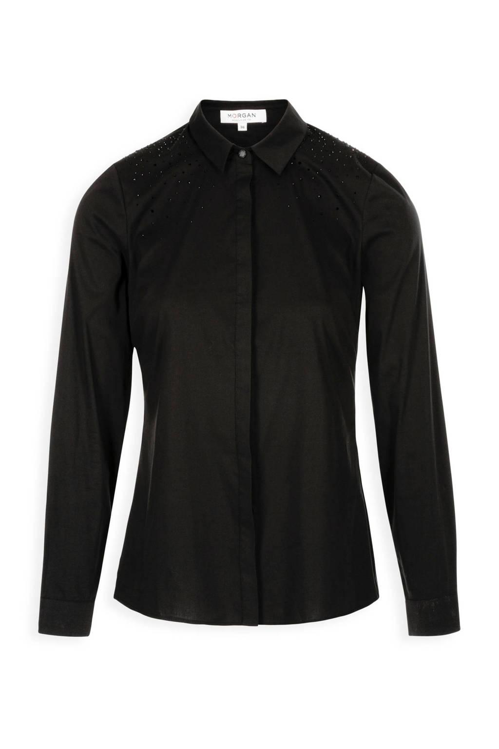 Morgan blouse zwart, Zwart