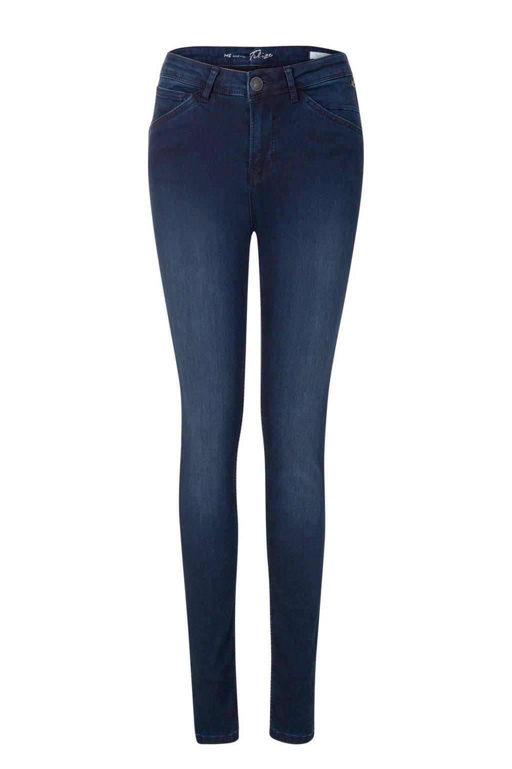 Miss Etam Lang high rise skinny jeans, Donkerblauw