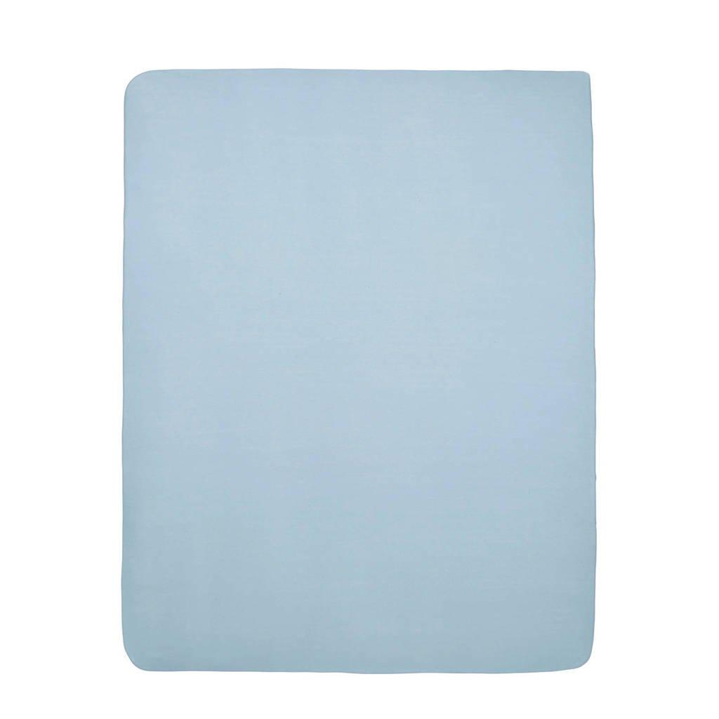 Meyco hoeslaken boxmatras 75x95 cm lichtblauw