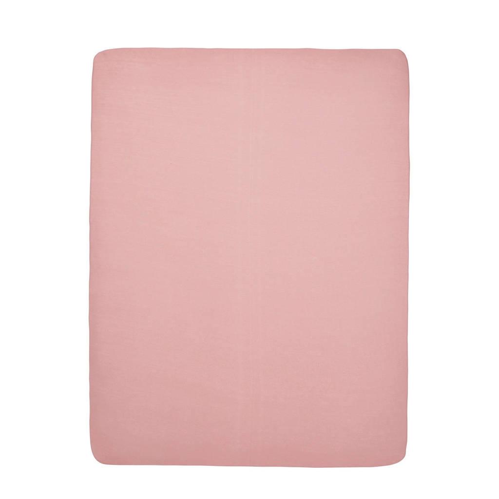 Meyco hoeslaken boxmatras 75x95 cm roze