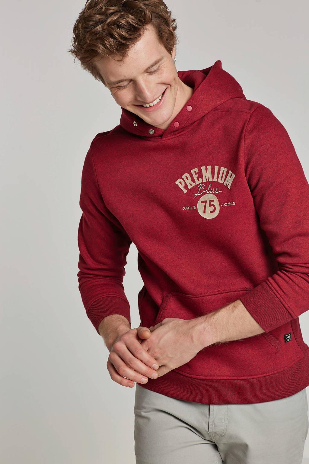 Jack & Jones Premium hoodie, Rood