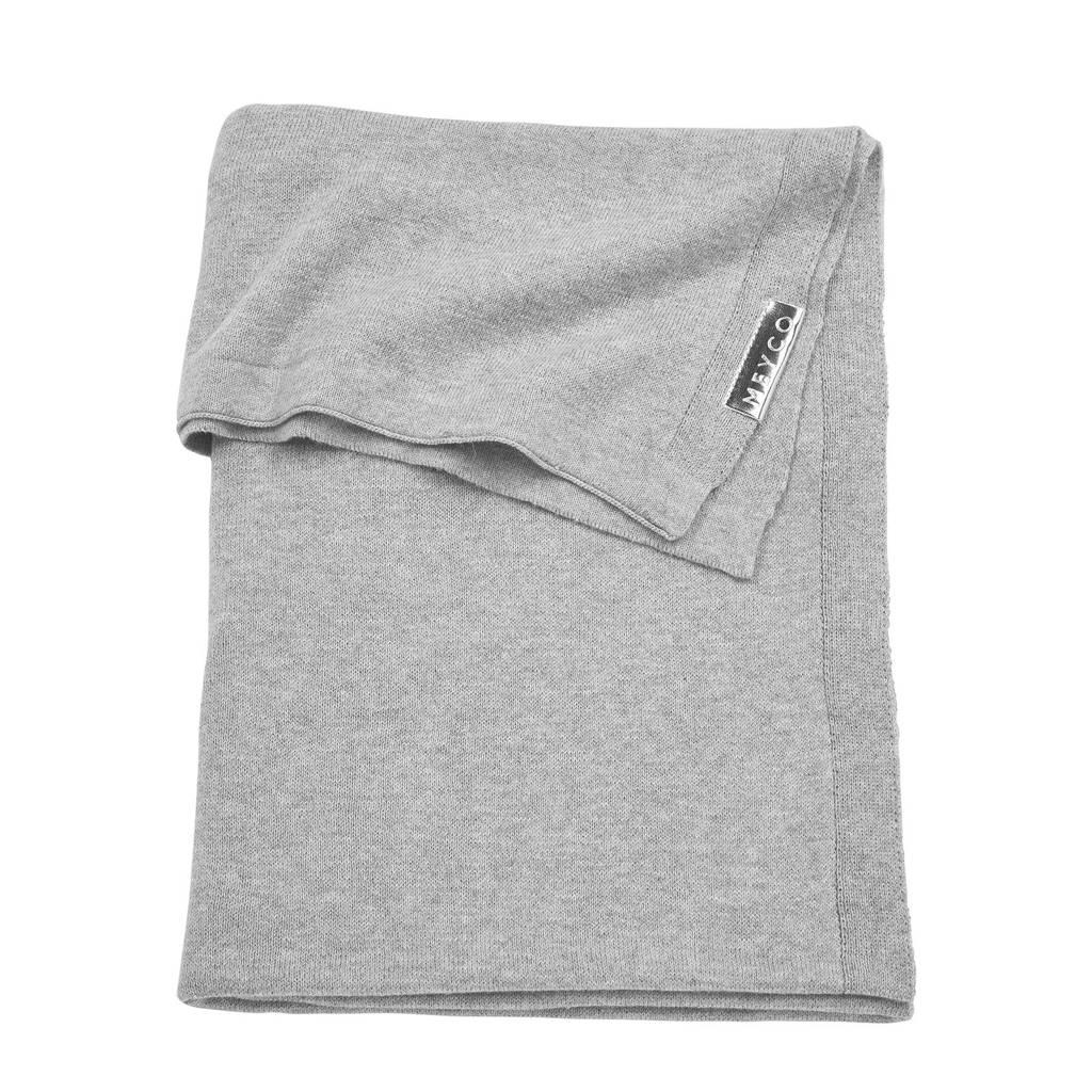 Meyco Knit Basic wiegdeken 75x100 cm grijs, Grijs