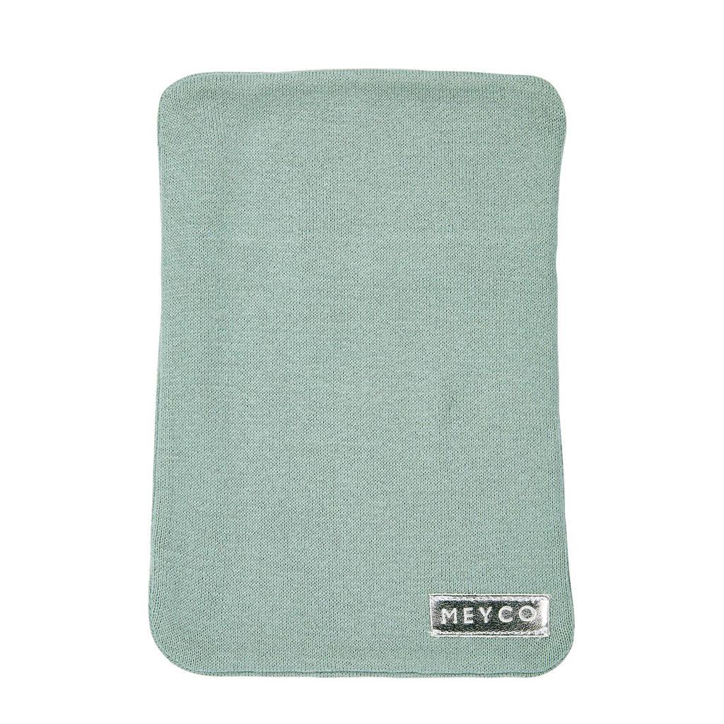 Meyco Knit Basic kruikenzak Zensy stone green, Groen