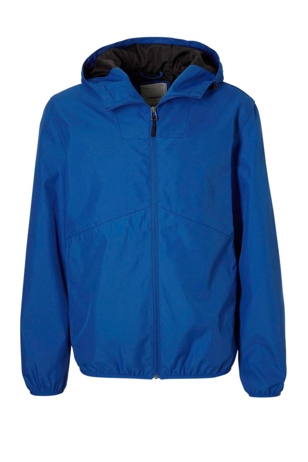 PRODUKT zomerjas met capuchon, Kobalt blauw