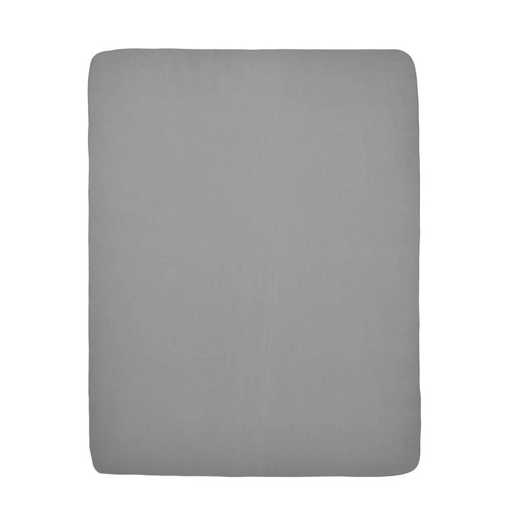 Meyco hoeslaken boxmatras 75x95 cm grijs