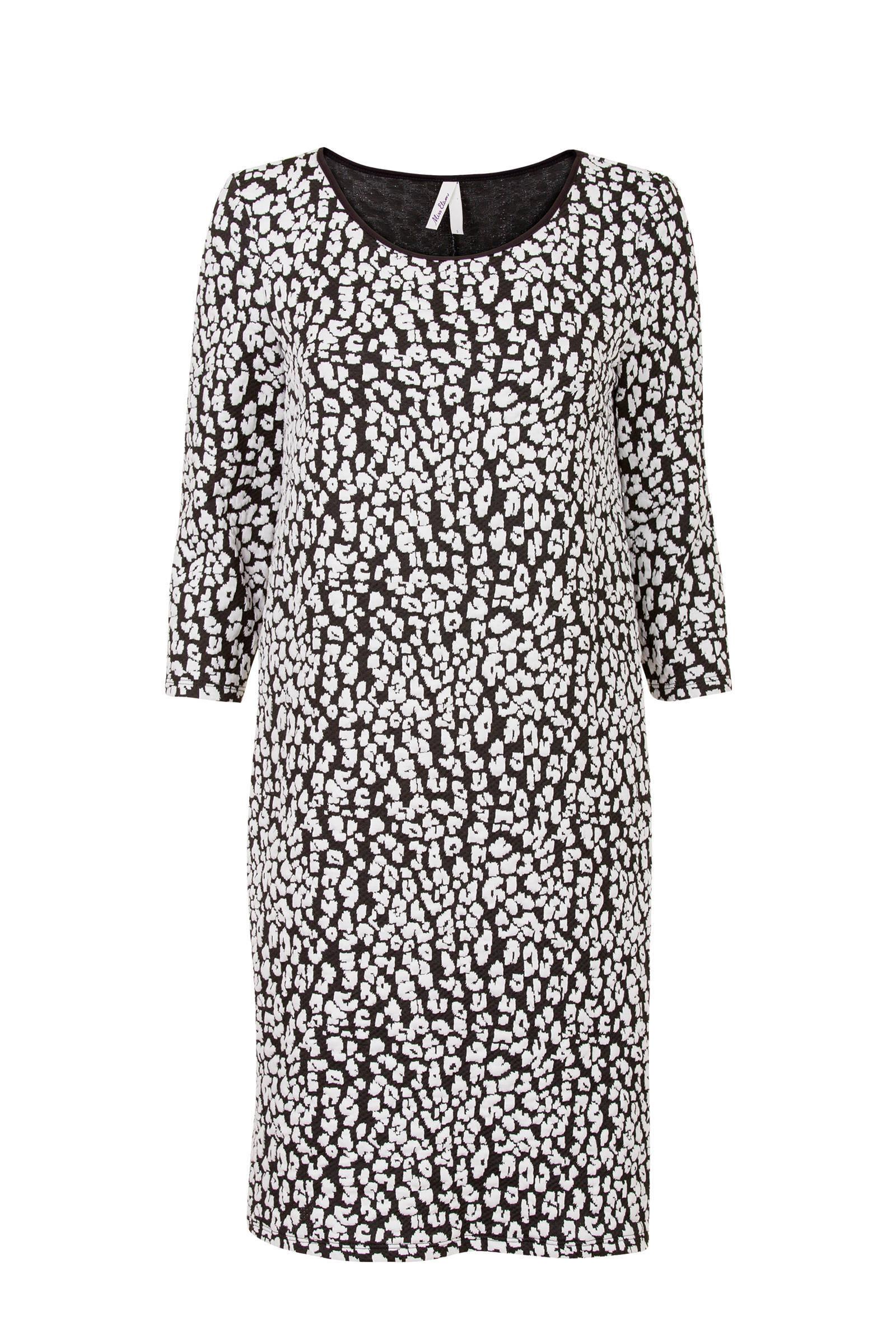 7e1fe800b4d553 Miss Etam Regulier jurk met tijgerprint