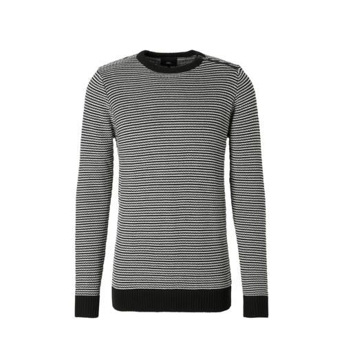 trui met print zwart