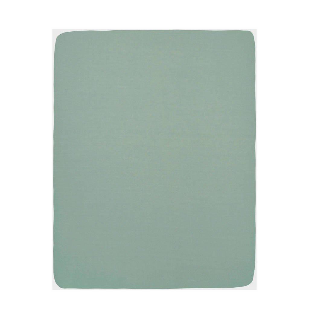 Meyco hoeslaken boxmatras 75x95 cm groen, Groen