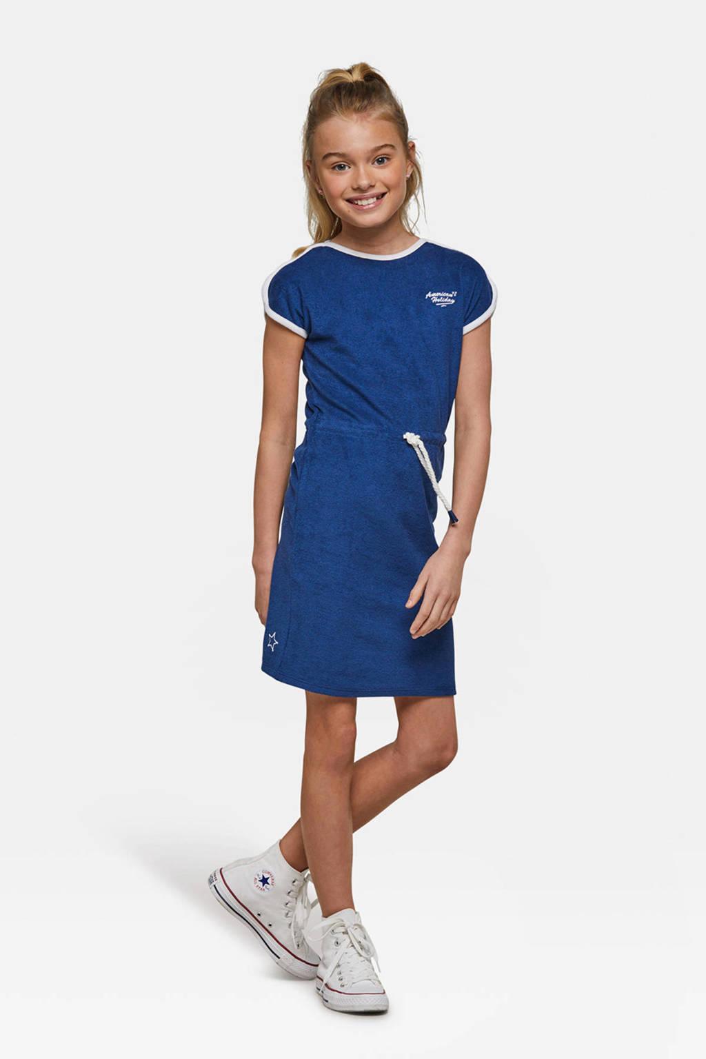 WE Fashion badstof jurk blauw, Blauw