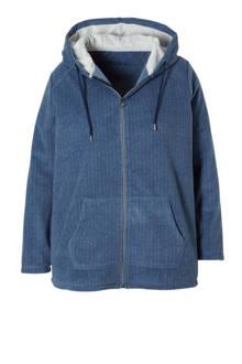 XL Yessica fleece vest blauw