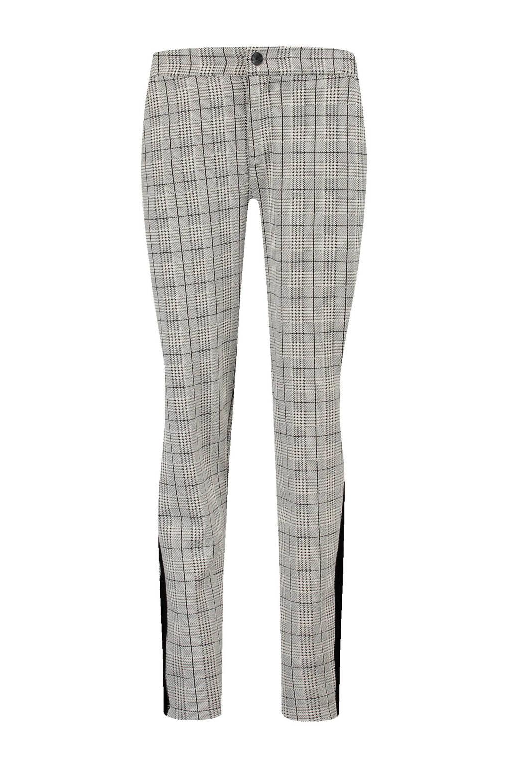 Garcia broek met ruit grijs, Grijs/ zwart