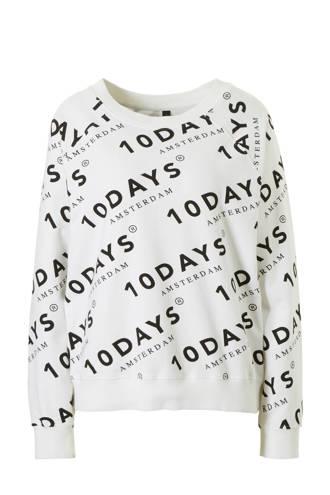 sweater met all over printopdruk