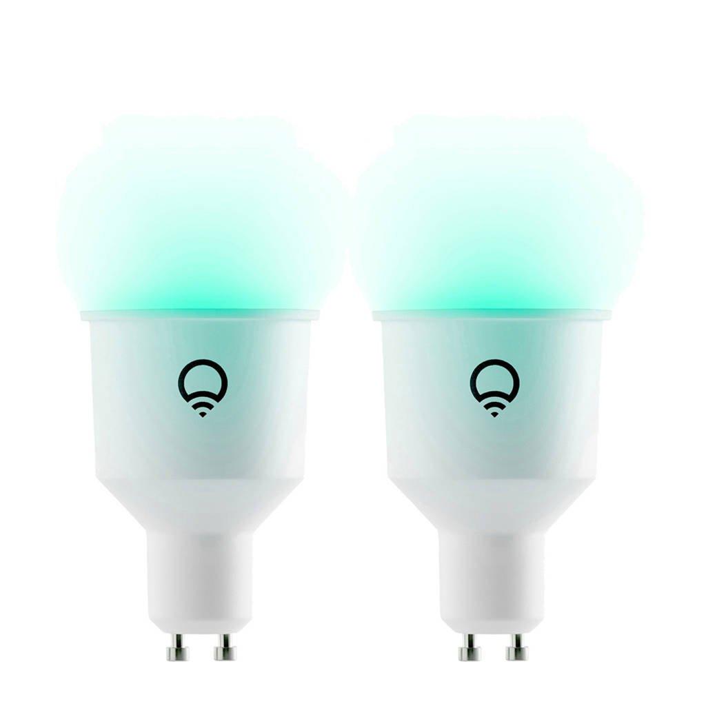 LIFX Colour & White GU10 2-pack wit, Wit
