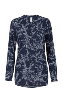 Miss Etam Regulier blouse met print blauw (dames)
