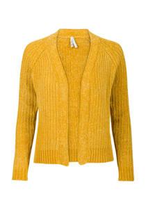 Miss Etam Regulier chenille vest geel (dames)