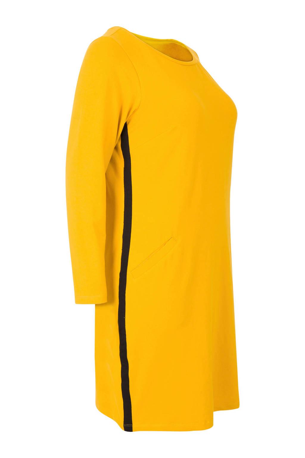 Miss Etam Plus jurk geel, Geel