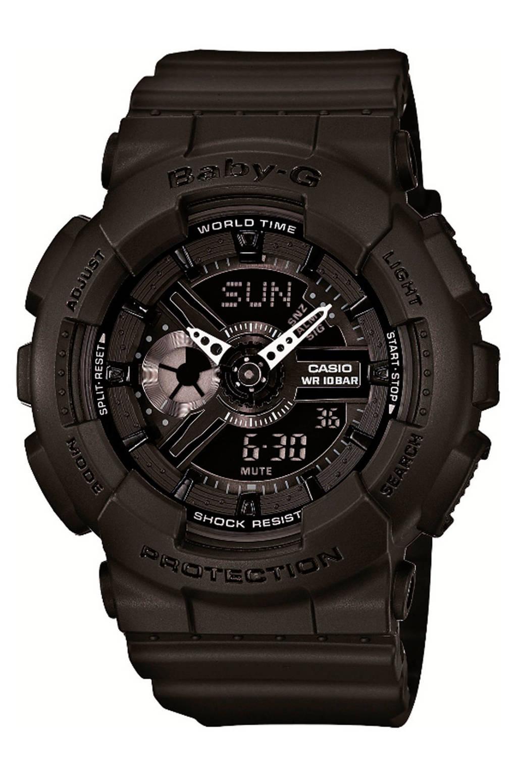 Baby-G horloge zwart, Zwart