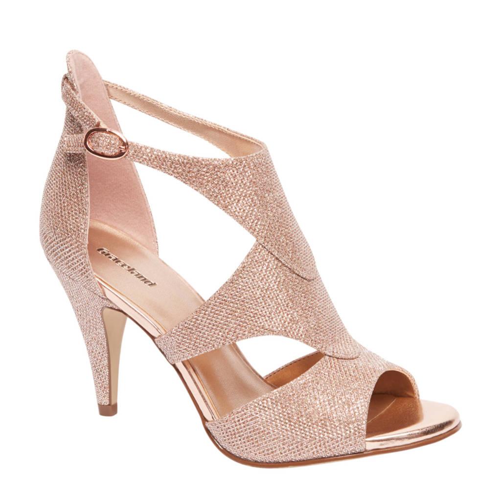 vanHaren Graceland glitter sandalettes roségoud, Rosé