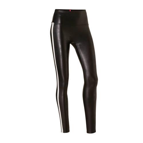 SPANX corrigerende legging Faux Leather Side Strip