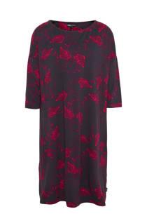 Didi jurk met een allover flamingo print antraciet