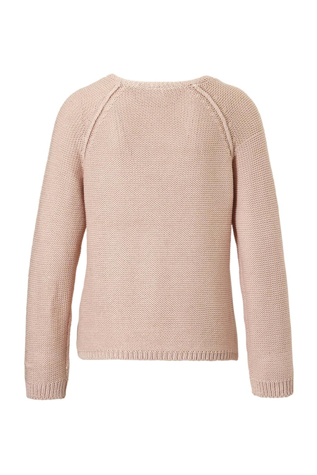 VILA gebreide trui met glitter details, roze/goud