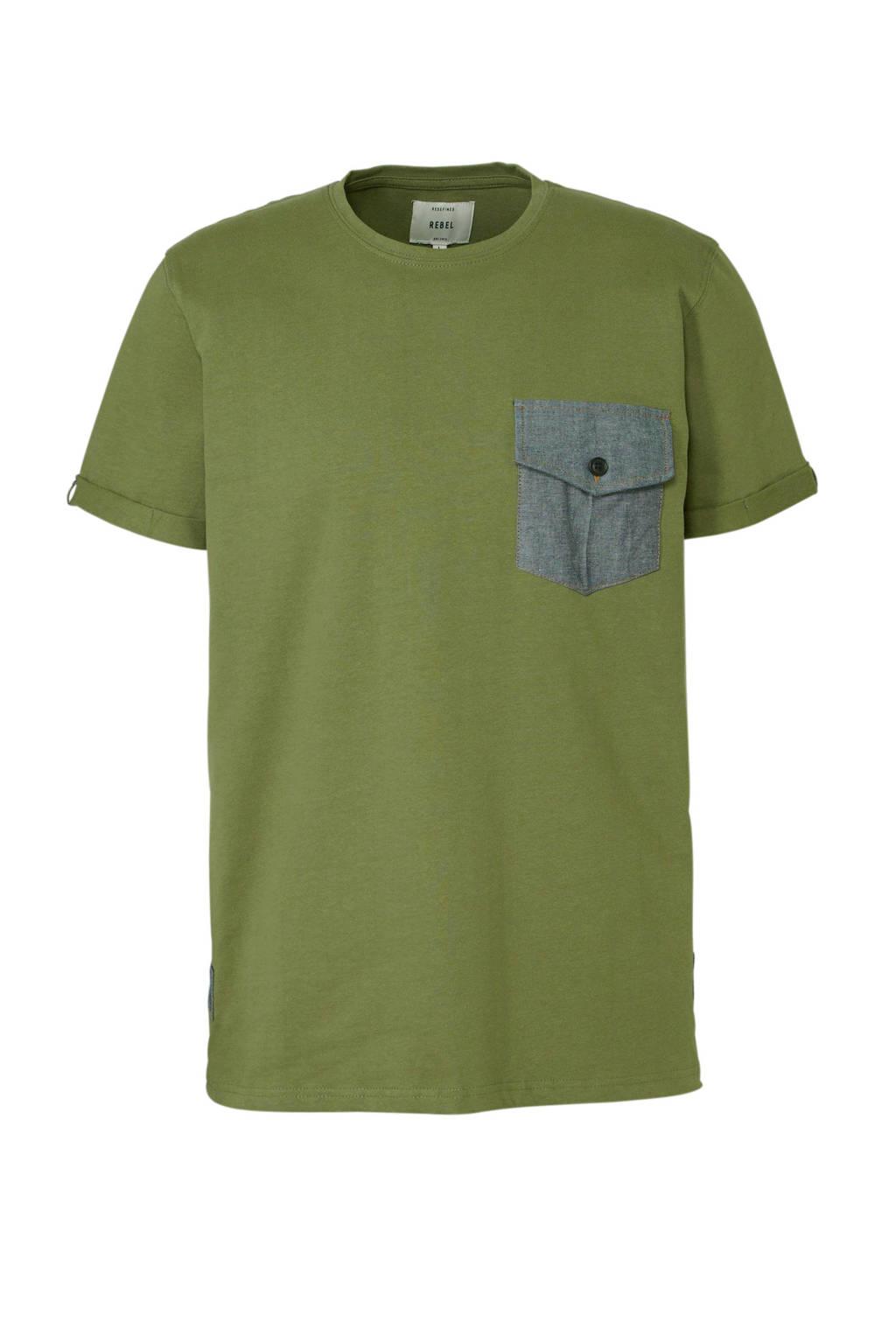 Redefined Rebel T-shirt groen, Groen