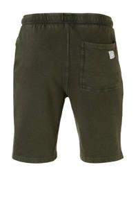 Redefined Rebel gemêleerde regular fit sweatshort groen, Groen