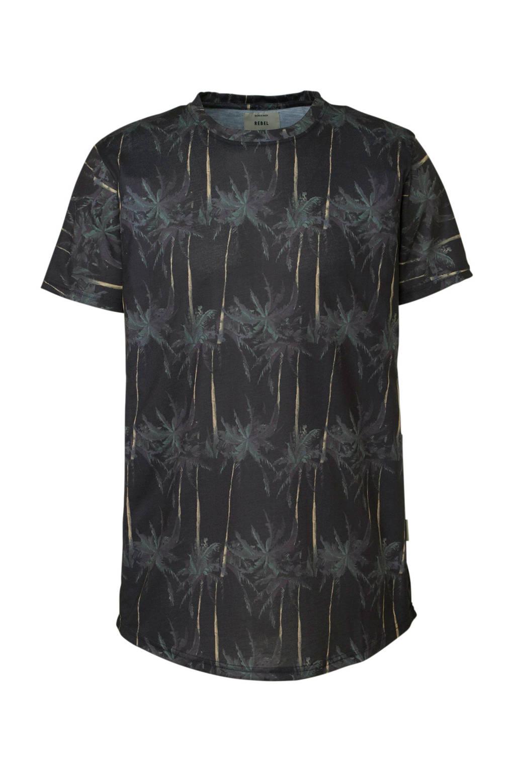 Redefined Rebel T-shirt met print, Zwart