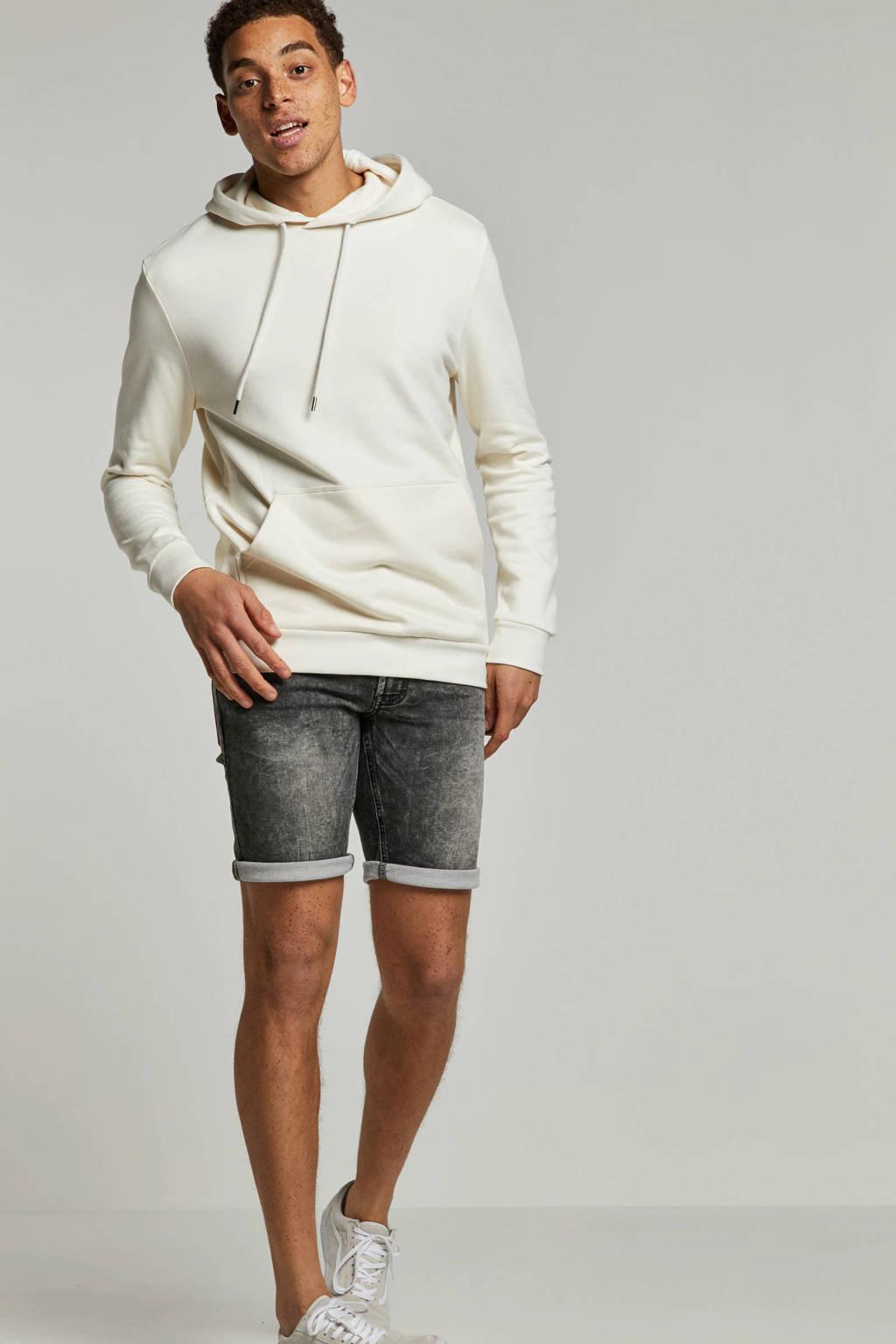 Redefined Rebel slim fit jeans short Sydney Terry, Disturbed Grey