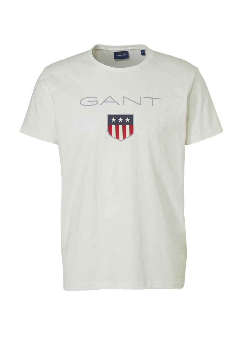 GANT T-shirt met logo, Wit