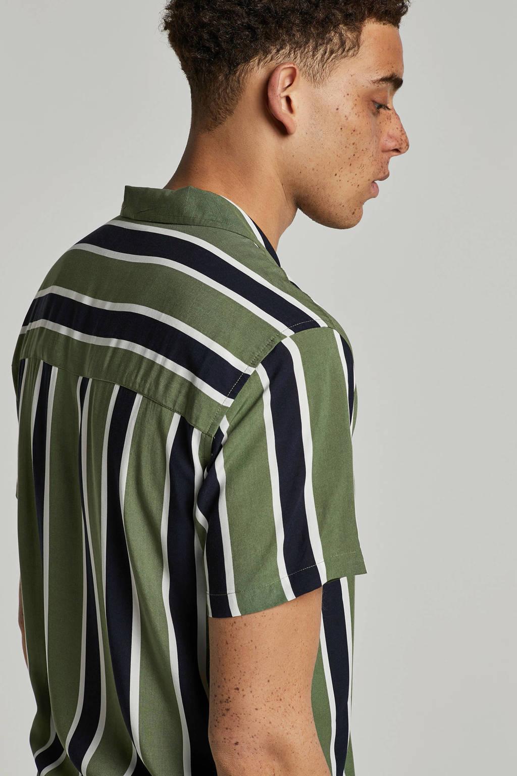 Redefined Rebel overhemd Adrian korte mouw, Groen