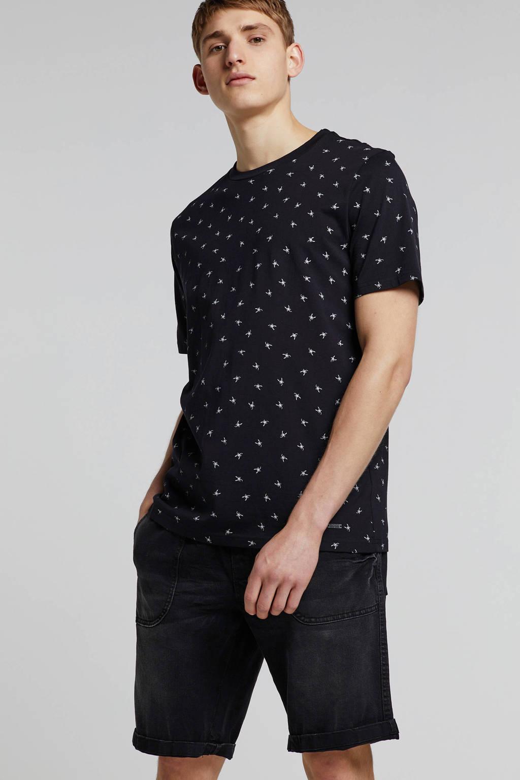 Redefined Rebel regular fit jeans short Cologne, Marble Black