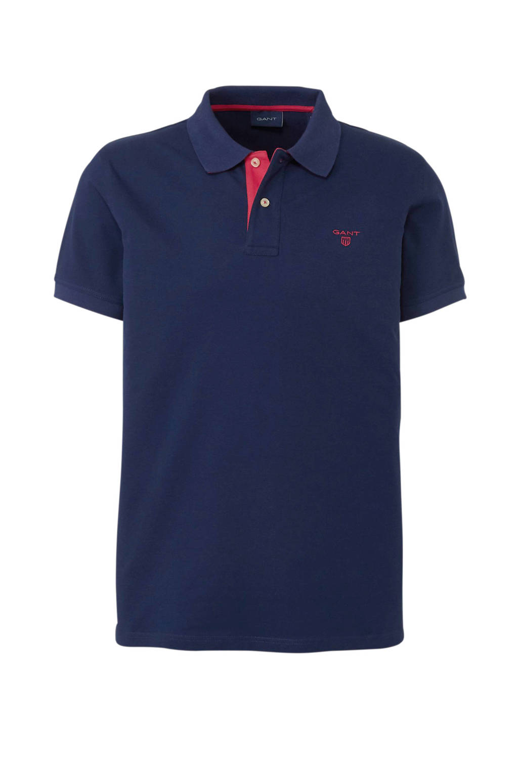 GANT regular fit polo donkerblauw, Donkerblauw