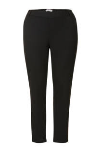 Miss Etam Plus 7/8 tapered fit broek met zijstreep