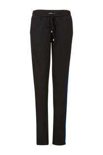 Miss Etam Lang tapered fit sweatpants met zijstreep zwart (dames)