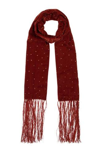 Accessoires sjaal bruin