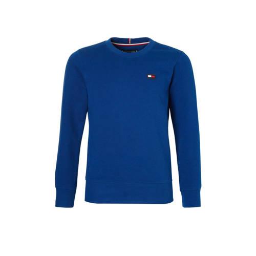 Tommy Hilfiger sweater met vlag logo kobaltblauw kopen