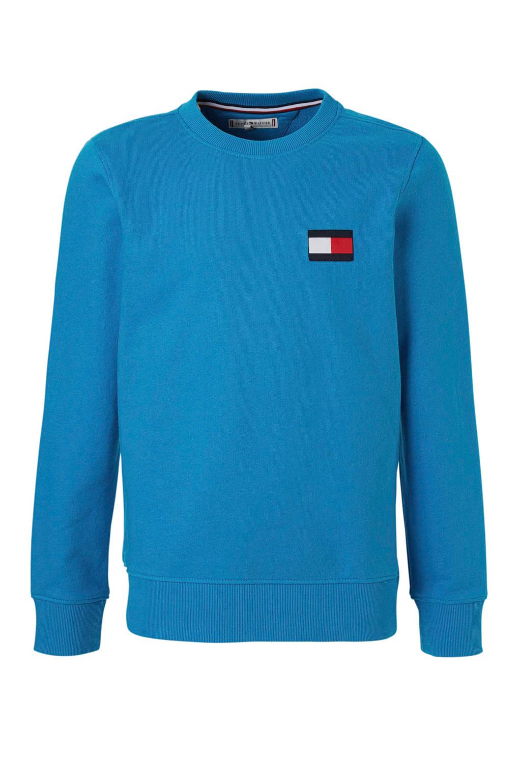Tommy Hilfiger sweater met logo blauw, Blauw